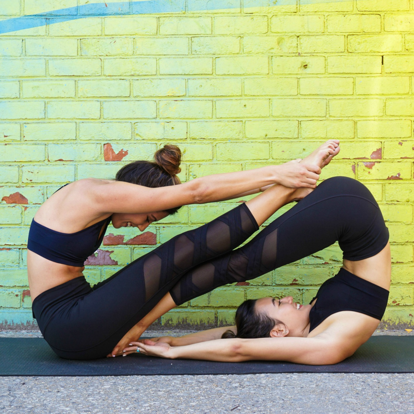 Partner Yoga Pose Headstands And Heels