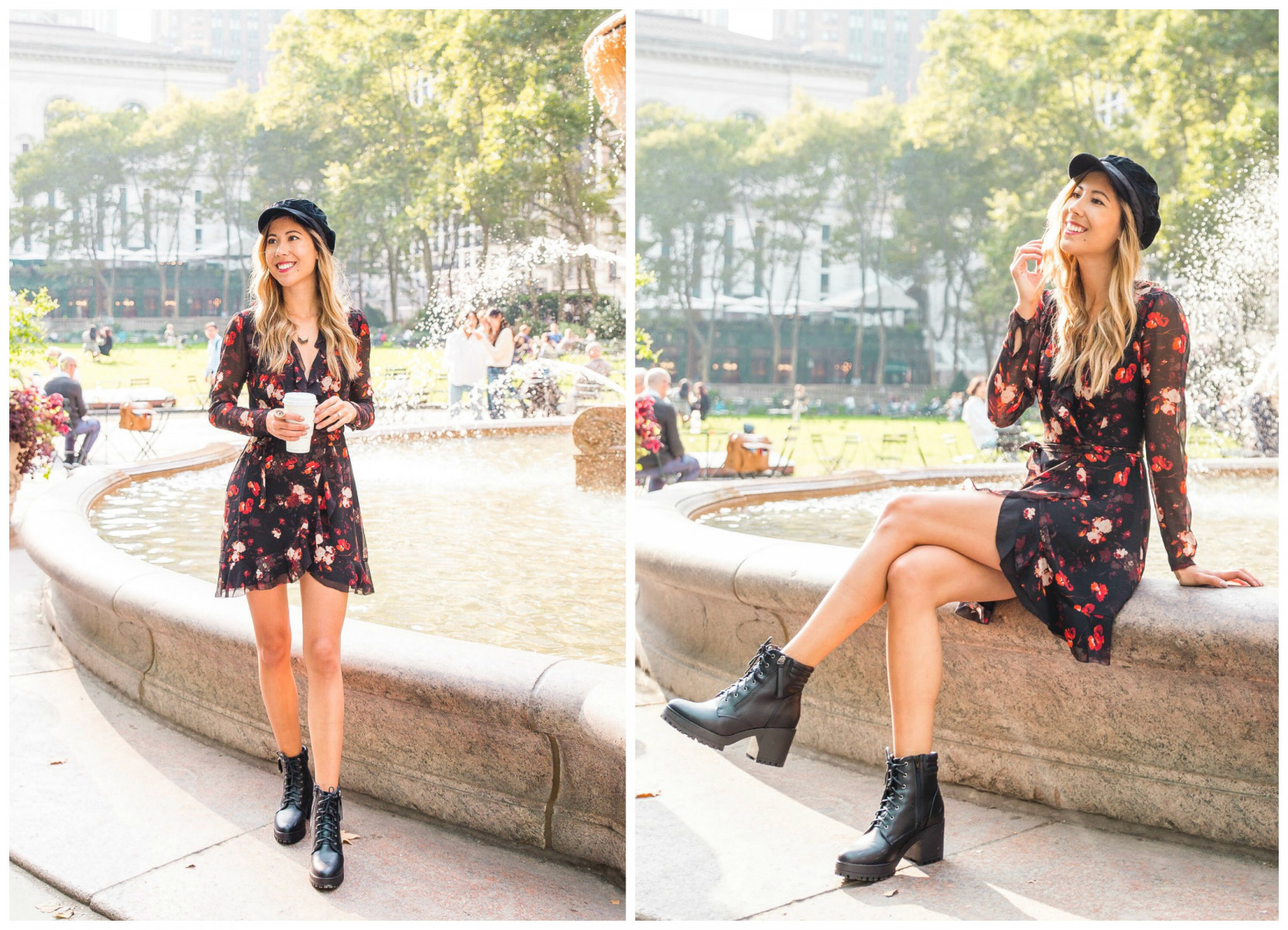 dress with combat boots