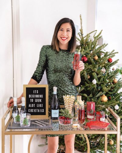 How to Set Up a Festive Holiday Bar Cart