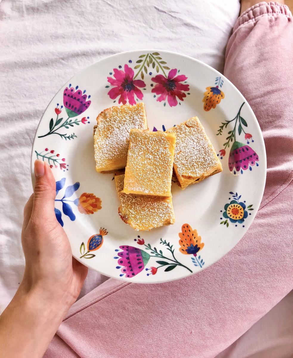Healthy Desserts: lemon bars