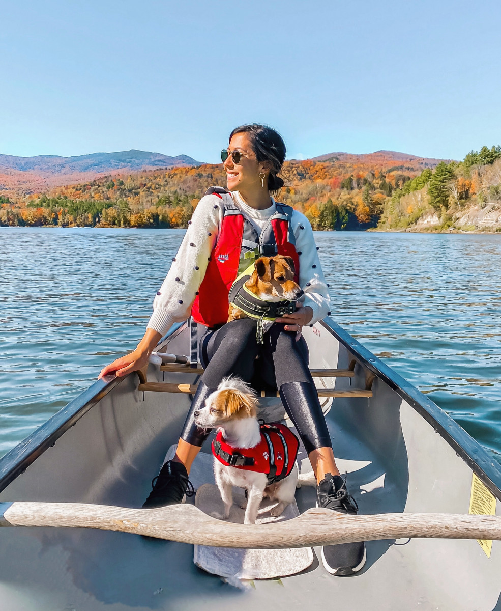 Canoeing in Stowe, VT