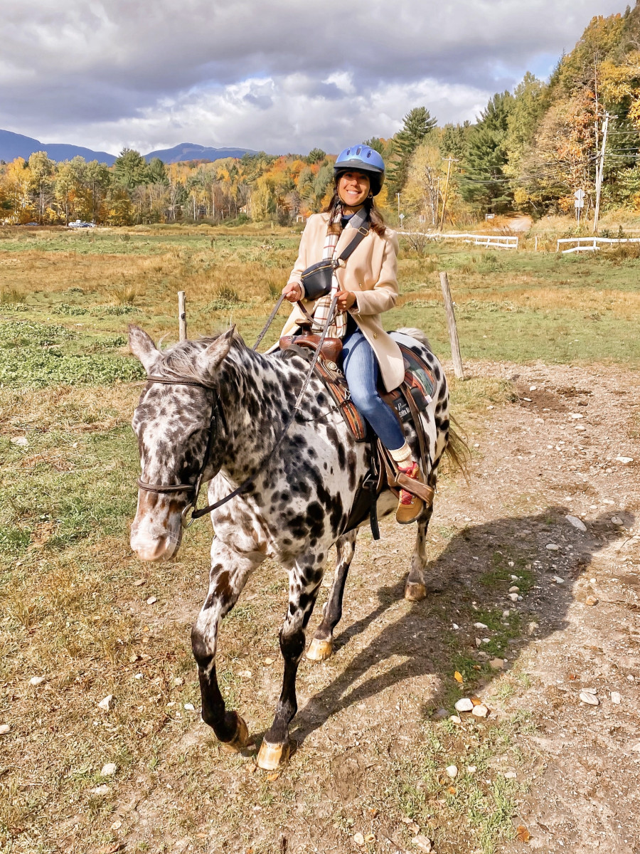 Horseback riding in Stowe, VT