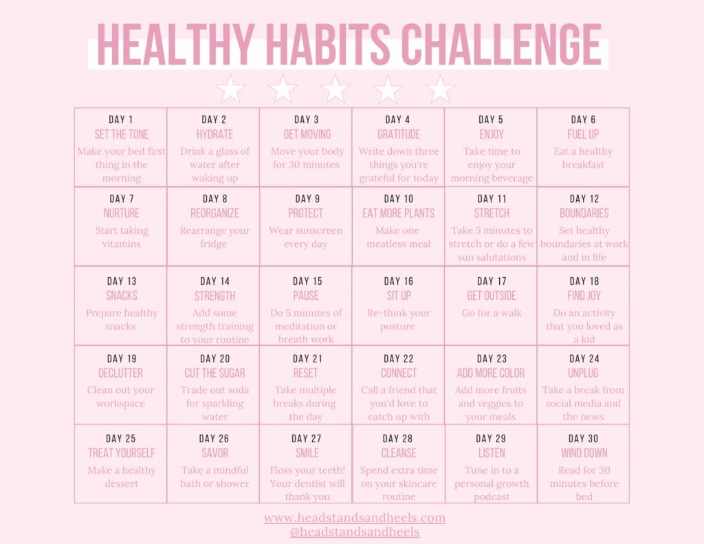 Healthy Habits Challenge